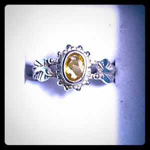 New Sterling .50 TCW Natural Citrine! Sz 4!